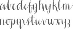 Hand lettered style font  I like the feel and some of the characteristics of this font, whichever font it is.