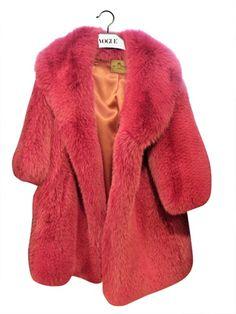 pink fur coat (faux)
