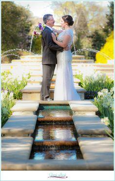 Norfolk Botanical Gardens Wedding, Mr and Mrs, Fresh Look Photography, garden wedding, Coronation Court, wedding day, bride and groom, purple and cream wedding colors, love to love you