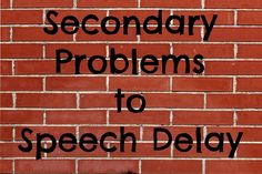 Learn about the secondary problems that can be caused by a speech delay, or the more uncommon issues that can actually lead to a toddler speech delay.
