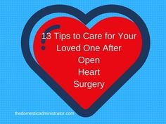 Nothing prepares you for being a primary caregiver for a loved one after open-heart surgery. Here are13 tips when caring for a loved one after OHS. Aortic Stenosis, Aortic Aneurysm, Aortic Valve Replacement, Primary Caregiver, Heart Valves, Open Heart Surgery, Congenital Heart Defect, Heart Care, Bypass Surgery