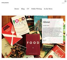 With hundreds of themes on WordPress.com, writers have many options to build their online hub. We love the magazine-style website of food writer Emily Contois, which showcases her archive of work.