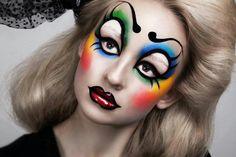 Glam clown/circus makeup