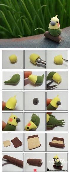 6 tutos d'oiseaux! Fimo, fondant, pâte à sucre, pâte d'amande. - Bricolages - Des bricolages géniaux à réaliser avec vos enfants - Trucs et Bricolages - Fallait y penser !