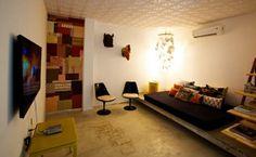 Ambiente do moderninho Oztel, em Botafogo, que tem quartos individuais (Foto: Divulgação)