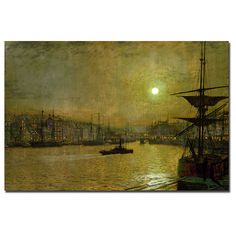 John Atkinson Grimshaw 'Whitby' Gallery-Wrapped Canvas Art