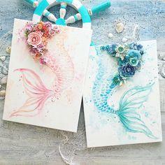 Mermaid Room, Mermaid Art, Mermaid Paintings, Mermaid Canvas, Manga Mermaid, Mermaid Bathroom, Deco Marine, Art Watercolor, Watercolor Mermaid
