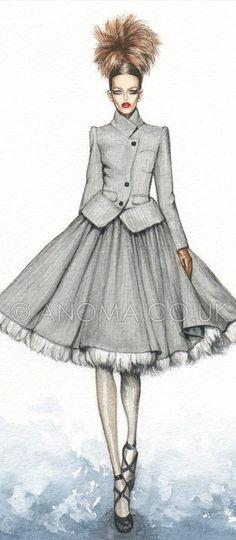 Fashion Illustration by Anoma