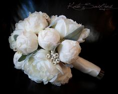 Ivory Peony Wedding Bouquet  Peony Wedding Bouquet by @Kate Said Yes (Kate), www.katesaidyes.etsy.com