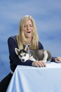Hannah Teter (Snowboarding) | 15 U.S. Olympians Posing With A Siberian Husky Puppy Is The Cutest Thing You'll See Today