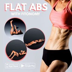 Get flat stomach and flat abs with Fitonomy exercises that will help you to tone your body. Flat Abs Workout, Six Pack Abs Workout, Abs Workout Routines, Belly Fat Workout, Workout Challenge, Fun Workouts, At Home Workouts, Strength Training Workouts, Flexibility Workout