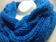 bufanda infinita tipo collarn color con la tcnica de dos agujas en