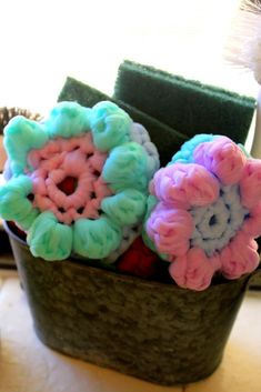 Spring Flower Crochet Dish Scrubbies with Palmolive® Multi-Surface Dish Soap #PalmoliveMultiSurface #Ad #CollectiveBias