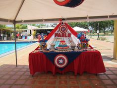 Captain America pool Party / Piscinada Capitan América  /  Creaciones Reina Sofia