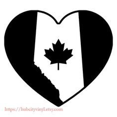 Love for Alberta Flag Decal