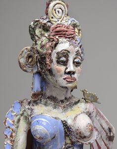 "Sculpture : ""Madonna and Child detail"" (Original art by Suzy Birstein) Madonna And Child, Suzy, Figurative, Original Art, Sculptures, Ceramics, Statue, The Originals, Detail"