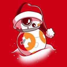 BB-8 Santa Hat T-Shirt Star Wars TeeTurtle