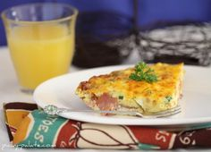 Ham and Cheddar Frittata with Peppers and Parsley