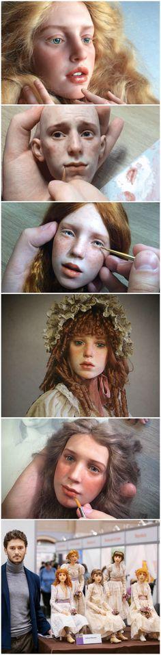 Las muñecas hiperrealistas de Michael Zajkov Bjd Dolls, Doll Toys, Realistic Dolls, Doll Tutorial, Doll Maker, Polymer Clay Art, Polymers, Felt Animals, Ball Jointed Dolls