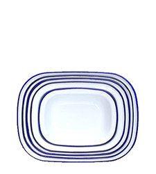 Enamel Pie Set - Blue Rim