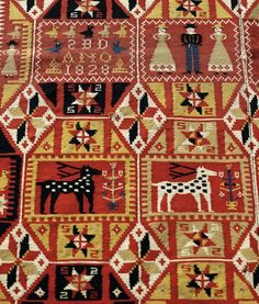 text-mode: Bedcover from the early 1800s (Skåne, Sweden). Photo by Anders Norrsell. Via