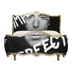 PACCINO | Collaboration with photographer Terry O'Neill  | Painted bed by Jimme Martin