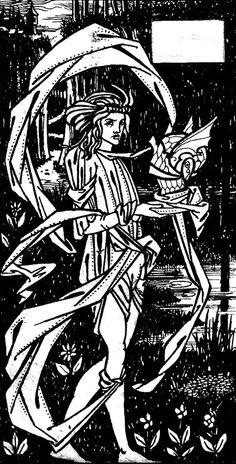 Chapter heading for 'La Morte d'Arthur'. England Fans, Japanese Woodcut, Aubrey Beardsley, Academic Art, Art Nouveau Architecture, Deco Engagement Ring, Cubism, Illustrators, Art Decor