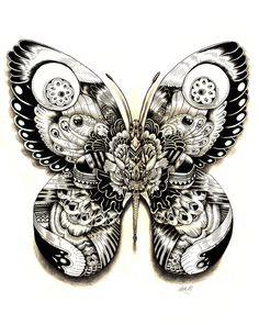 Chillingly lovely #starvingartist Intricately Patterned Animal Illustrations