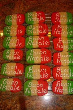 Buon Natale ( Merry Christmas in Italian ) Cookies .... <3