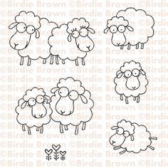 Digital stamp set Baa Baa by BirdieBrown on Etsy, $5.00