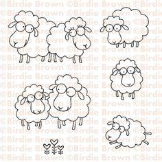 Digital stamp set Baa Baa by BirdieBrown on Etsy, $5.00