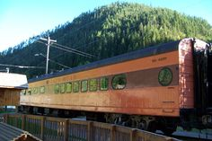 Tour the old Milwaukee Road dining car, Avery, Idaho to see how people traveled by train. #roadsideattractions #idaho #travel