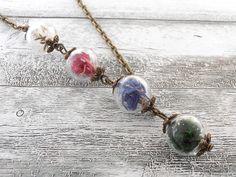 Bloemen sieraden - Waldwiese - Echte Blüten Kette - Een uniek product van CharmeandShine op DaWanda