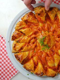 Cuuking! Recetas de cocina: Estrella salada de hojaldre con jamón y queso ¡Riq...