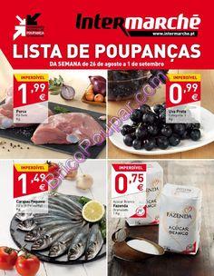 Antevisão Promoções Folheto Intermarché - de 26 de agosto a 1 de setembro - Lista de Poupanças - Parte1