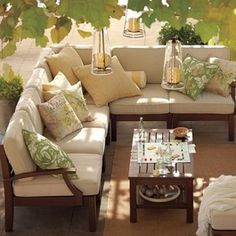 Patio Furniture and Outdoor Furniture  I want a big comfy couch like this for the deck