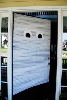 Halloween door.