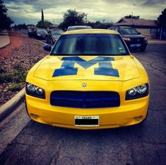 Nothing like the block M on the hood of your ride. I would so drive this car! Michigan Go Blue, State Of Michigan, University Of Michigan, U Of M Football, College Football Teams, Collage Football, Michigan Athletics, Michigan Wolverines Football, Best American Road Trips