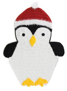 Free Crochet Pattern L40516 Holiday Penguin Afghan : Lion Brand Yarn Company