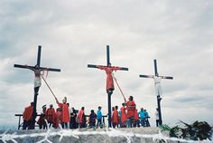 Reenacting the Passion of Christ is a popular tradition in parts of the Phillippines. Passion Christi, Have Fun, Traditional, Popular, Happy, Travel, Philippines, Viajes, Happy Happy Happy