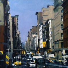 Ben Aronson - Summer, New York City, 2011, oil on panel, 12 x 12 inches