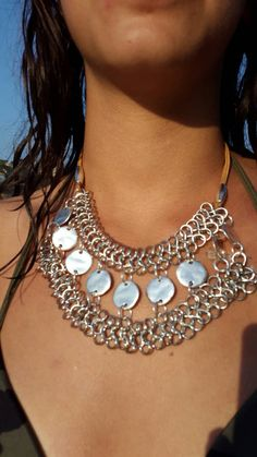 Collar chest sequin by greedyscreation on Etsy