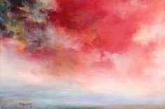 "Saatchi+Online+Artist+Rikka+Ayasaki;+Painting,+""Passions,Sunset+7011""+#art  Just so beautiful"
