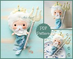 """This PDF sewing pattern is to make a doll 8"""" tall from felt fabrics. This doll is hand sewn.   THIS IS NOT A FINISHED DOLL. Pattern does not include"""