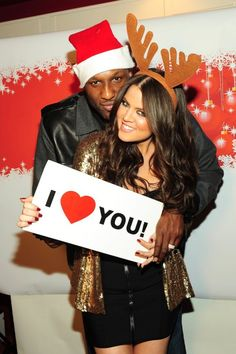 Lamar and Khloe, i love their love. my boyfriends hair would be too big for a Santa hat though xD