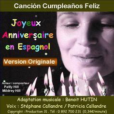 Joyeux anniversaire en espagnol - Canción cumpleaños feliz