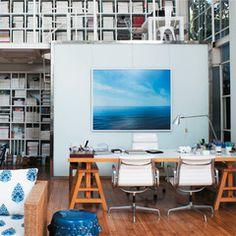 O escritório do Sig Bergamin é uma ilha de tranquilidade em São Paulo