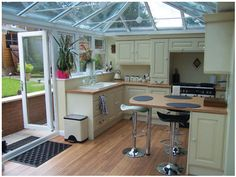Conservatories used for kitchens
