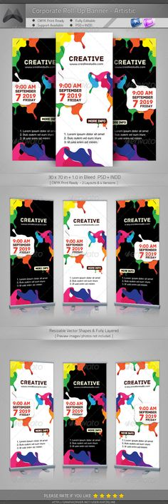 Corporate Outdoor Roll-up Banner - Artistic Painting