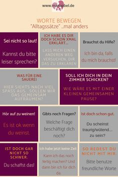 Words move - everyday phrases with a difference Kindergarten Portfolio, Learn German, Mind Tricks, Baby Hacks, Social Platform, Better Life, Family Life, Kids And Parenting, Good To Know